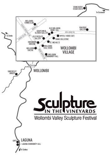 Scupture in the Vineyards map